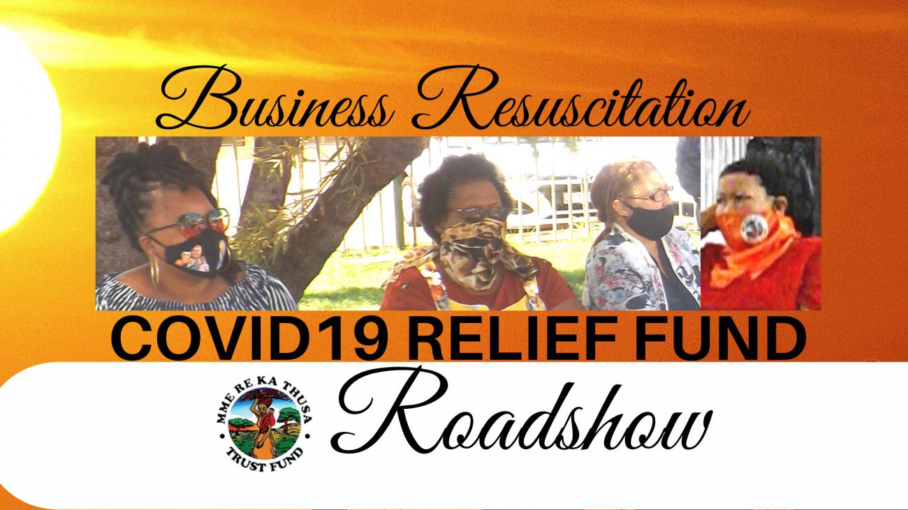 Business resuscitation covid19 relief fund roadshow